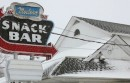 Snack place in snow