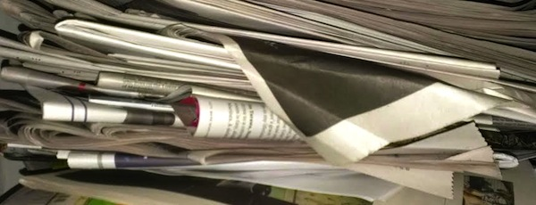 Old newspapers serve many recycling purposes.