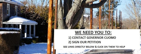 Save EH's current Facebook cover photo asks East Hampton residents to contact Governor Cuomo about the new transmission poles.