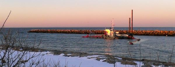 Mattituck Inlet, Sunset Dredge
