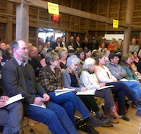 The crowd at Wednesday's meeting.