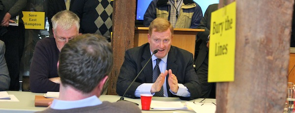 PSEG President David Daly at a recent meeting in East Hampton
