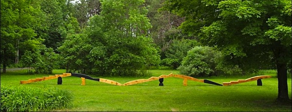 """Woodworker Fitzhugh Karol's site-specific work will be part of Longhouse Reserve's opening weekend show, """"Rites of Spring,"""" this Saturday."""