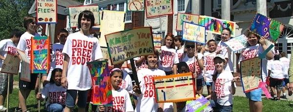 Pulaski Street School students at CAP's 2012 march against drugs.