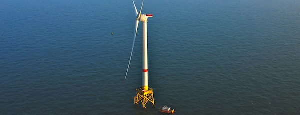 An Alstom Haliade turbine in Belgium similar to the turbines proposed by Deepwater Wind