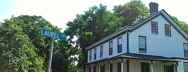 This house on the southeast corner of Laurel Lane would be the first house across the Southold Town line to be included in the Main Road historic district.