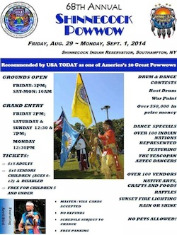 The Shinnecock Nation's 68th Annual Pow Wow will be held this weekend.