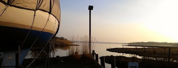 Boatyard sunrise