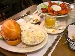 Cajun Chicken Sandwich, Wings.