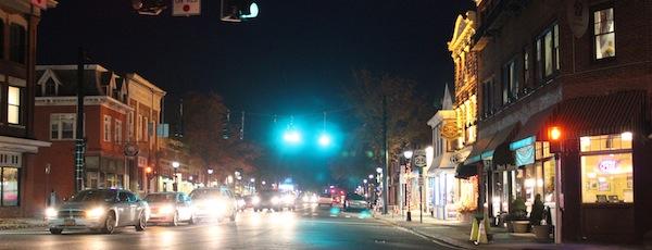 Riverhead rush hour, after dark