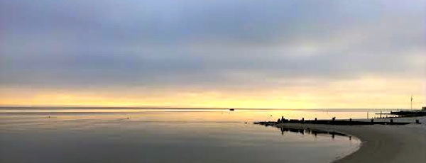 The calm on the bay.