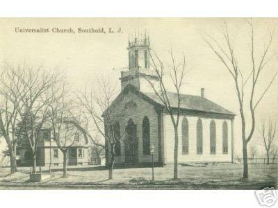 The First Universalist Church, built in 1860, in earlier times.
