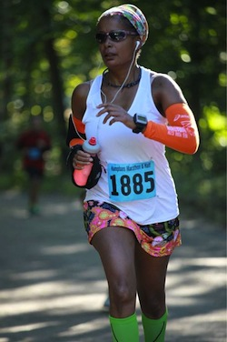 Joi Jackson-Perle of Wainscott is running the Suffolk Marathon in honor of Lance Cpl. Jordan Haerter of Sag Harbor.