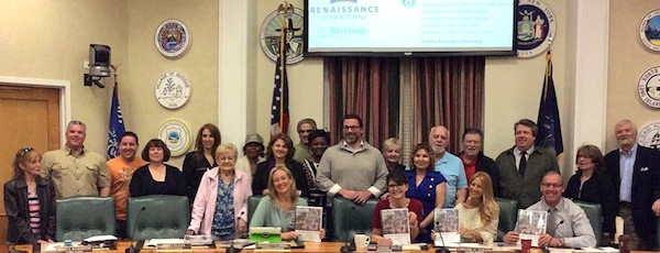 Members of the Riverside community presented their plan to revitalize their hamlet to the Southampton Town Board April 30   Siris Barrios photo
