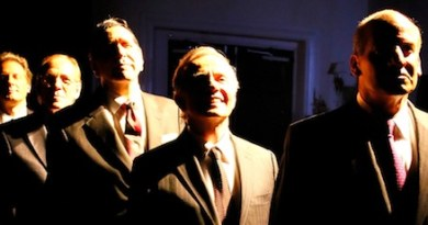 """The cast of Bay Street Theatre's """"Five Presidents   Copyright Lenny Stucker"""