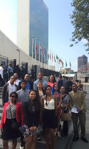 Representatives from the Shinnecock Nation at the United Nations