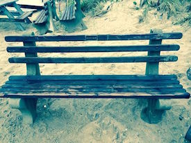 The bench at Ditch Plains