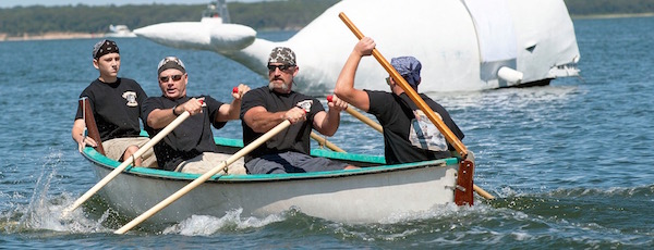 Whaleboat Races are the highlight of Sag Harbor's HarborFest weekend.