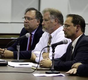 Environmental Advocates Bill Toedter, John Turner and Bob DeLuca gave testimony Monday.