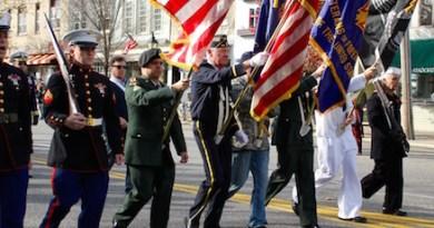Sag Harbor veterans marching in 2013
