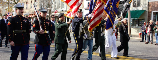 Sag Harbor veterans marching in 2013