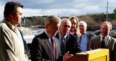 Suffolk County officials unveiled their plans for upgrading the septic system at Meschutt Beach Hut