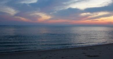 The green buoy at dusk.