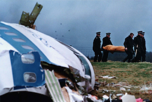 Reuters | 1988 FILE PHOTO OF THE LOCKERBIE BOMBING CRASH SITE.