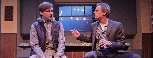 "Peter Connolly and John Carlin in HTC's production of ""Dead Accounts"" 