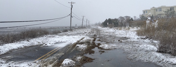 Dune Road hasn't faired well in recent storms.