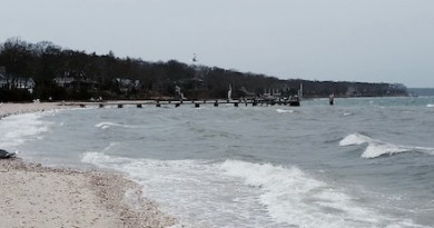 The Peconic Bay spent yesterday roiling, and it will likely roil some more today.