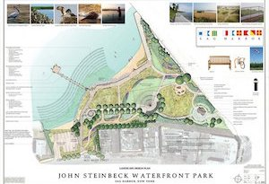 The design for the proposed park.