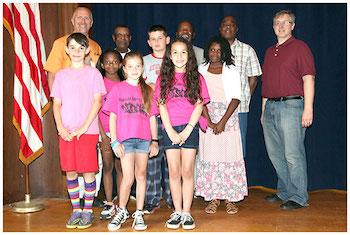 Winners of Pulaski Street School's 2016 Juneteenth Essay Contest.