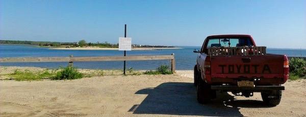 In Bonac — At Louse Point.