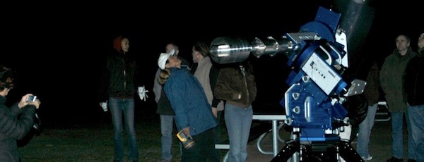 The queue to view Saturn at a recent Montauk Observatory event | Montauk Observatory photo