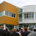 At the 2013 grand opening of the Stony Brook Southampton Marine Science Center.