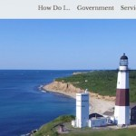The home page for East Hampton Town's new website.