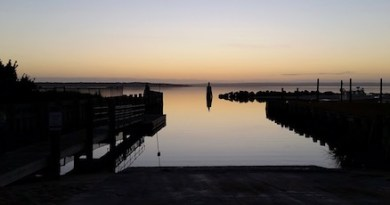 Thursday morning at the New Suffolk boat ramp.