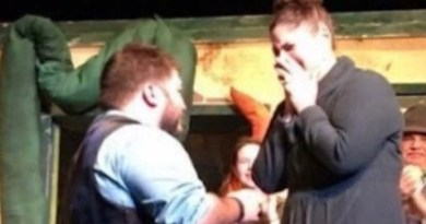 "Chris Fretto proposed to Katie Smith at last fall's production of ""Little Shop of Horrors"""