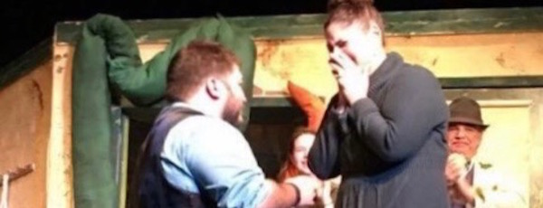 """Chris Fretto proposed to Katie Smith at last fall's production of """"Little Shop of Horrors"""""""