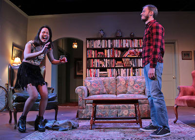 """Samantha Herrera as Amanda and Ben Schnickel as Leo in HTC's production of """"4000 Miles""""  