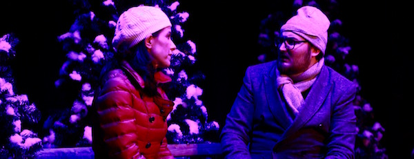 """Tamara Flanell and Colin Palmer in NFCT's production of """"Almost, Maine."""""""