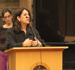 Doula Julia Chachere and Clinical Social Worker Dora Romero.