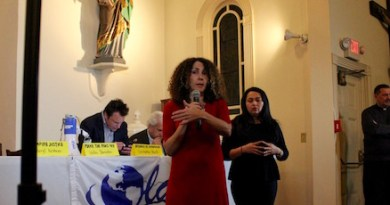 OLA Executive Director Minerva Perez at Tuesday's forum.