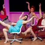 """The secretarial pool in Center Stage's production of """"Promises, Promises."""""""