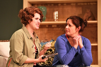 """Kelsey Cheslock as Molly and Michelle Corbett as Tess in NFCT's production of """"The Female of the Species."""""""