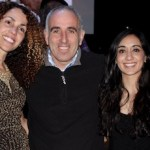 OLA Executive Director Minerva Perez, Southampton Town Supervisor Jay Schneiderman and drummer Carolina Fuentes of Mi Latina at Saturday's pachanga.
