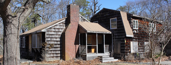 The caretaker cottage near Squiretown Park, which the Ecological Culture Initiative hopes to use as a headquarters while working on a transformative vision for Hampton Bays.