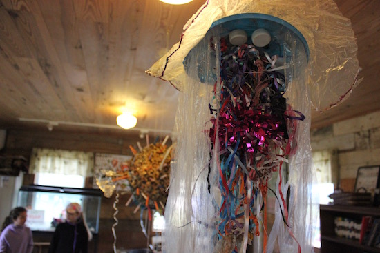 A jellyfish sculpture at Group for the East End's celebration at Downs Farm Preserve.