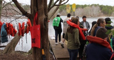 Earth Day paddling on Quogue Wildlife Refuge's ice pond.